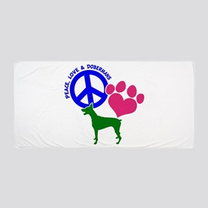 P,L,DOBERMANS Beach Towel